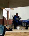 Pastor Alan Speaking at Drive in Service Easter Sunday 2020